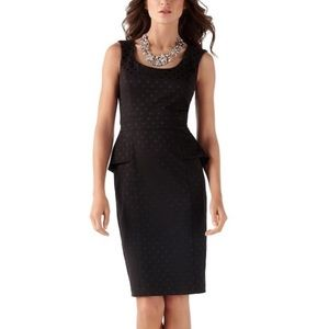White House Black Market Peplum Polkadot Dress